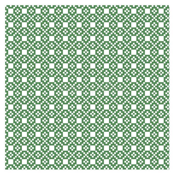 Modell för gräsplan för nordbo vit sömlös och vektor illustrationer