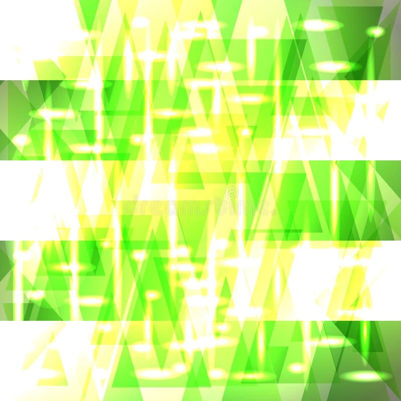 Modell för grön färg för vektor skinande försiktig av skärvor och band stock illustrationer