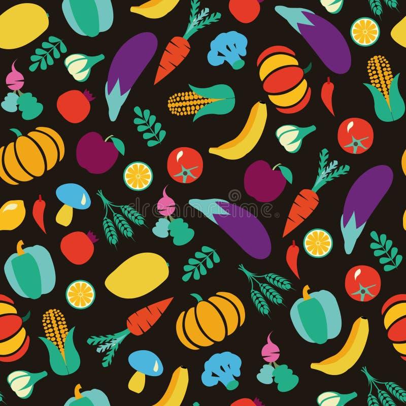 Modell för grönsak- och fruktEco mat royaltyfri illustrationer