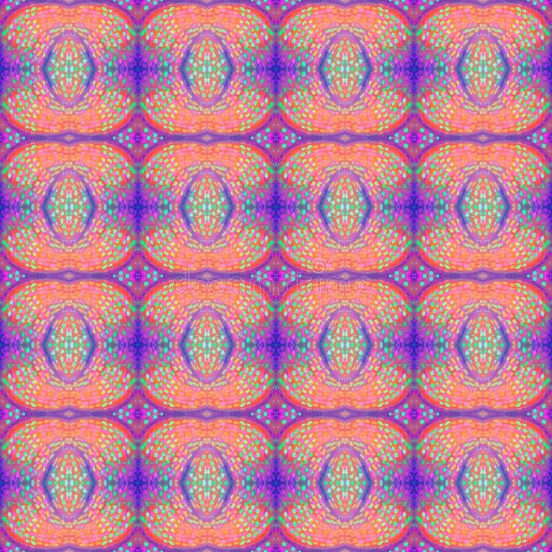 Modell för grunge för abstrakt konst sömlös Tygtextur av färgrika geometriska former Härligt abstrakt kort royaltyfri illustrationer