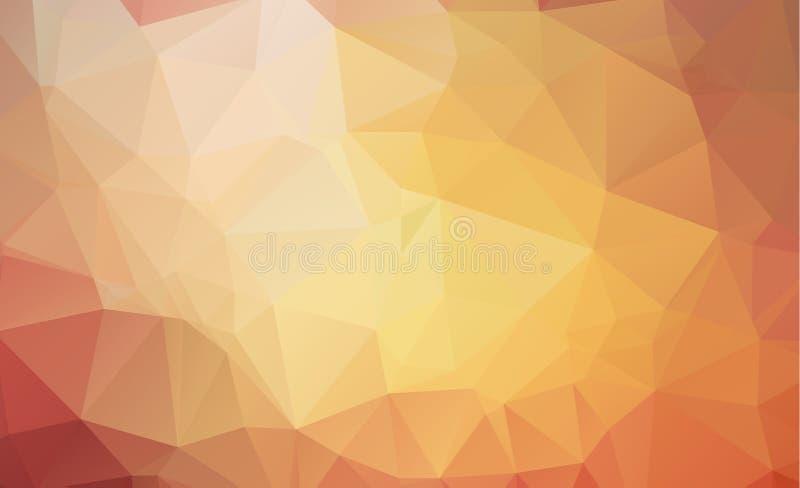 Modell för Ight gulingvektor triangulär mall Geometrisk sampl vektor illustrationer