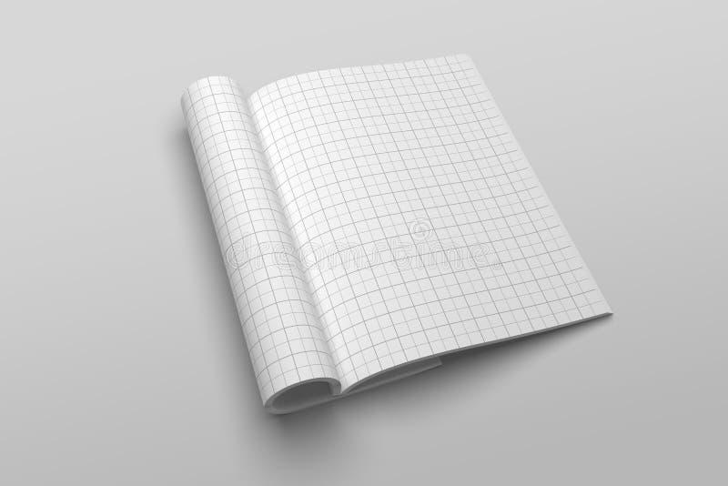Modell för illustration för för USA-bokstavstidskrift eller broschyr 3D med det inget rastret 2 vektor illustrationer