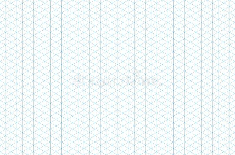 Modell för isometriskt raster för mall sömlös vektor illustrationer