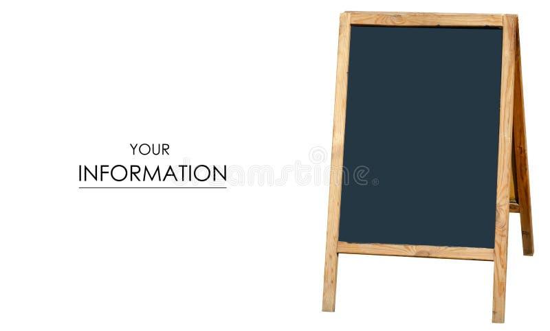Modell för kafé för restaurang för svart tavlagatameny trä royaltyfria foton