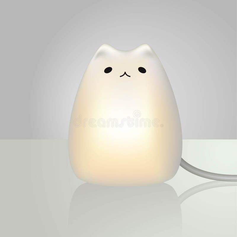 Modell för kattlampa 3d royaltyfri illustrationer