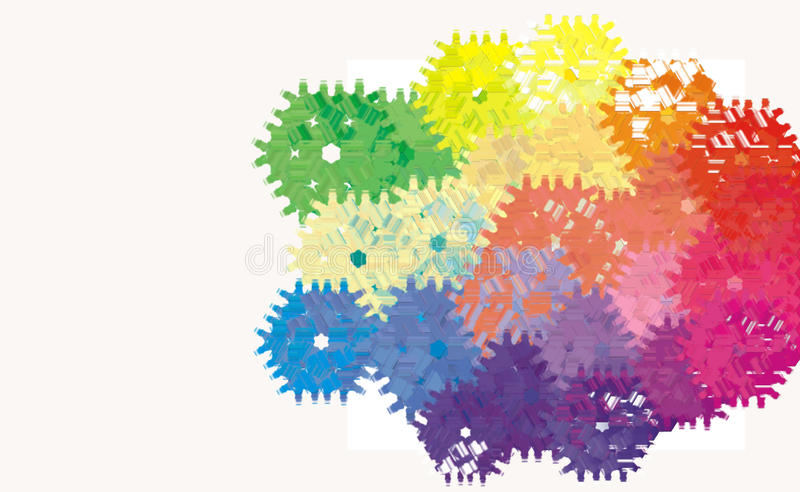 Modell för kugghjul för hjul för kugghjul Digital för abstrakt maskin royaltyfri illustrationer