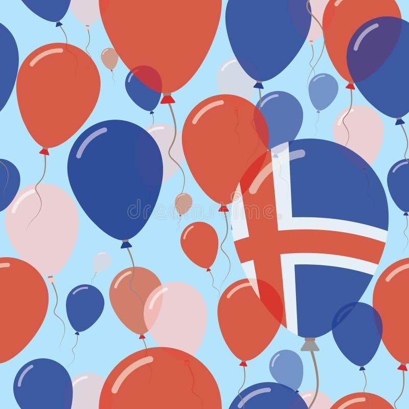 Modell för lägenhet Island för nationell dag sömlös stock illustrationer