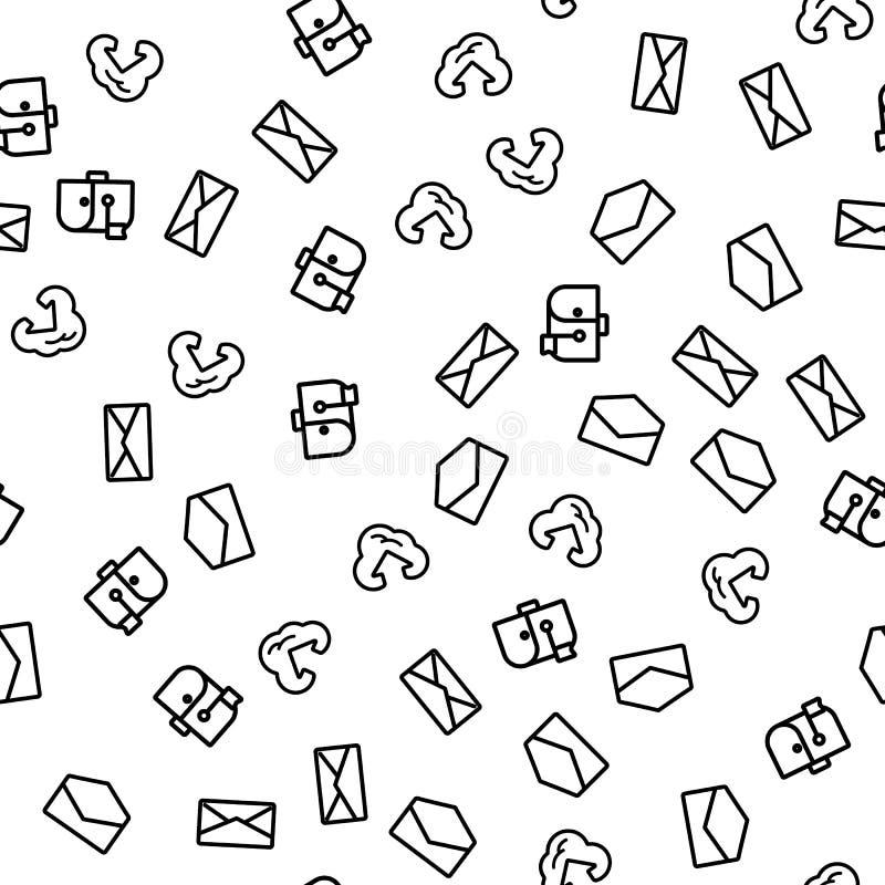 Modell för lösning för molninternetpost sömlös royaltyfri illustrationer