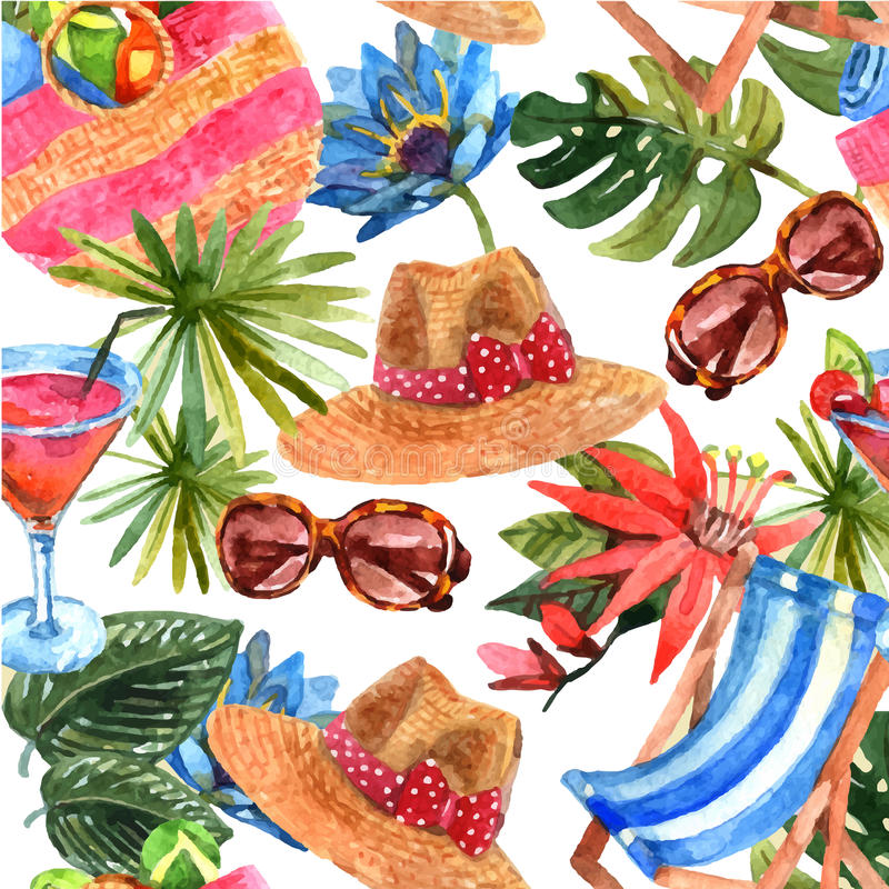 Modell för lopp för sommarsemester sömlös stock illustrationer