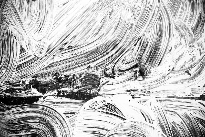 Modell för målarfärg för Curned vit borsteslaglängder arkivfoton