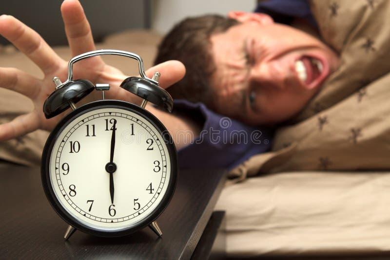 modell för manlig för klocka för alarmbakgrundsunderlag arkivbilder