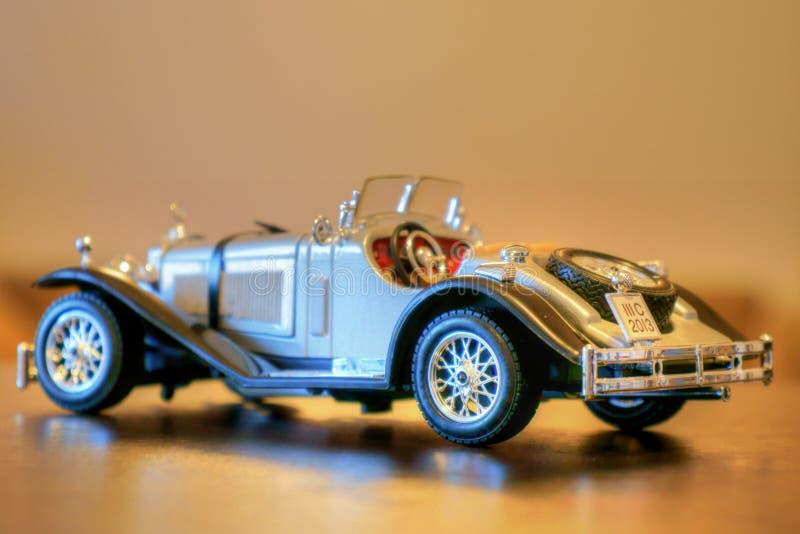 Modell 1937 för Mercedes Benz SSK Oldtimerbil royaltyfria bilder