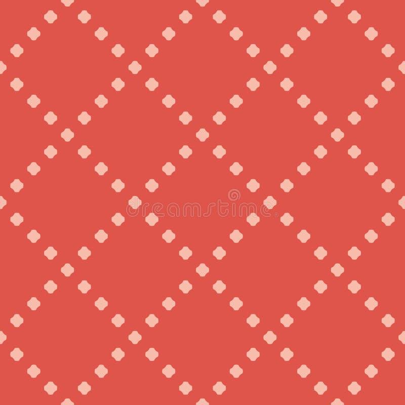 Modell för minimalist geometrisk prick för vektor sömlös rosa red f?r f?rger vektor illustrationer