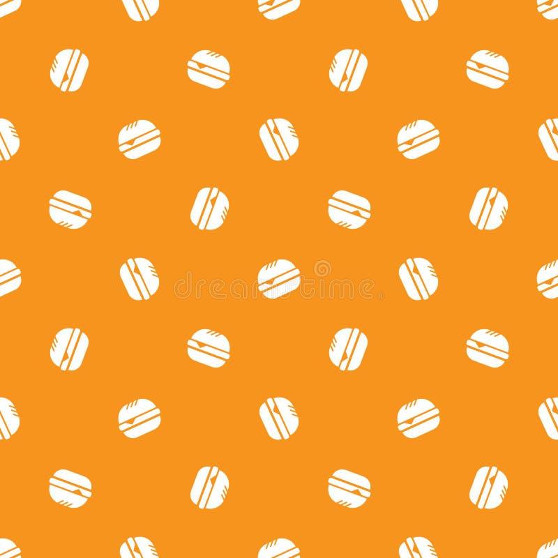 Modell för minimalistic hamburgare för vektor sömlös vektor illustrationer