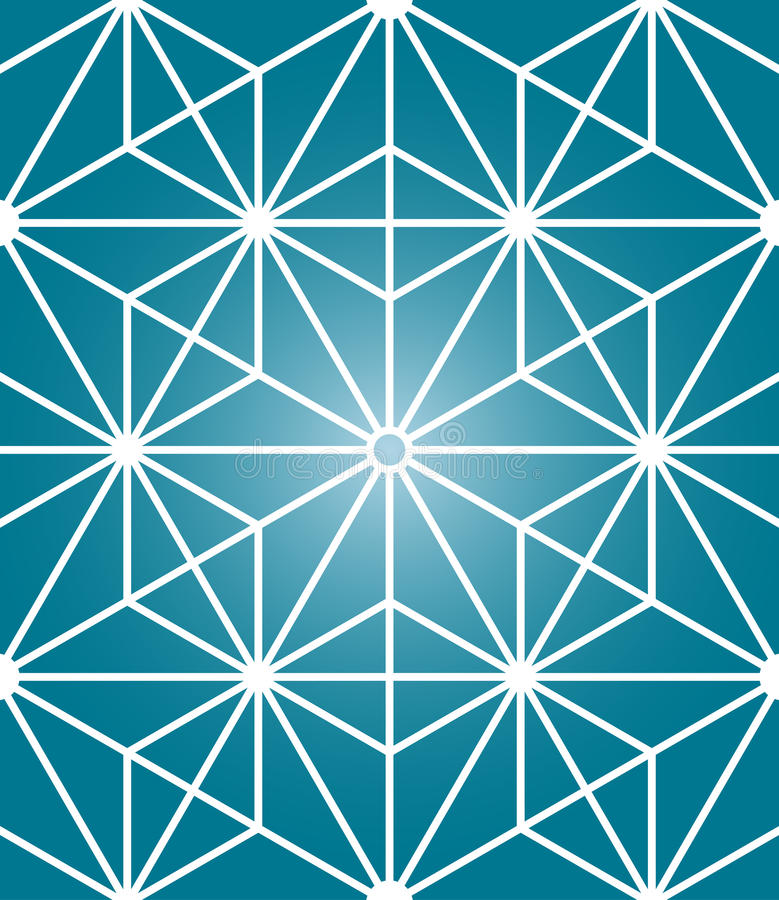 Modell för modern sakral geometri för vektor sömlös stock illustrationer