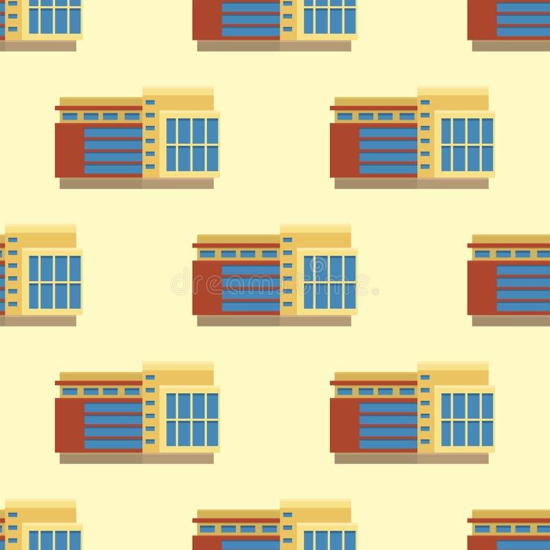 Modell för modern för torn för stadsbyggnader sömlös arkitektur för kontor royaltyfri illustrationer