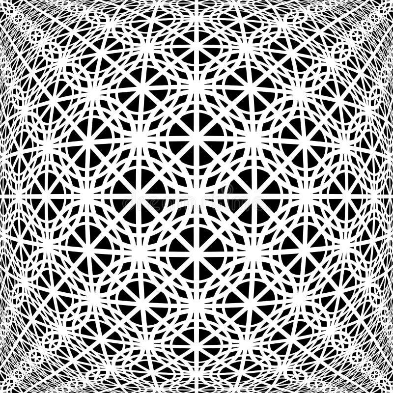 Modell för monokromt skevt raster för design dekorativ vektor illustrationer