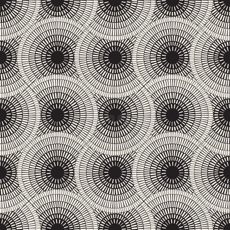 Modell för mosaisk trottoar för vektor sömlös stock illustrationer