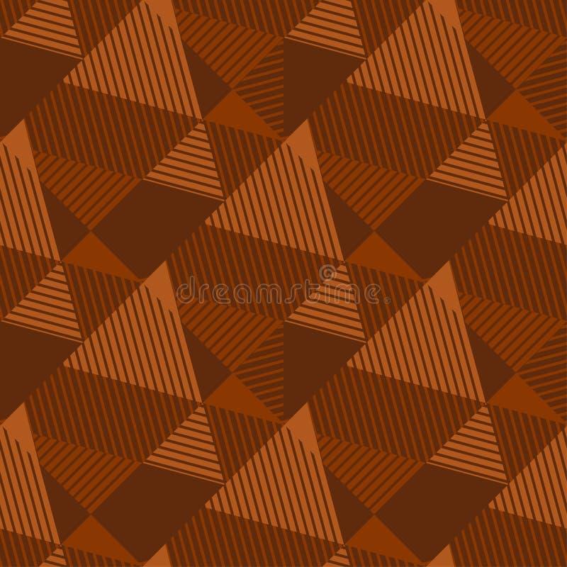 Modell f?r naturlig f?rg f?r terrakotta geometrisk s?ml?s royaltyfri illustrationer