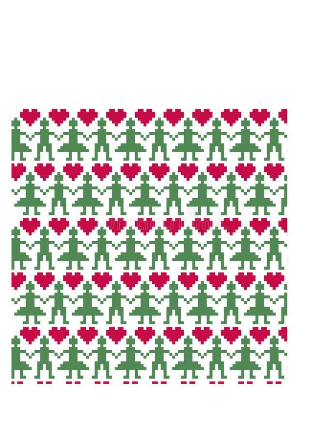 Modell för nordiskt folk för jul sömlös vektor illustrationer