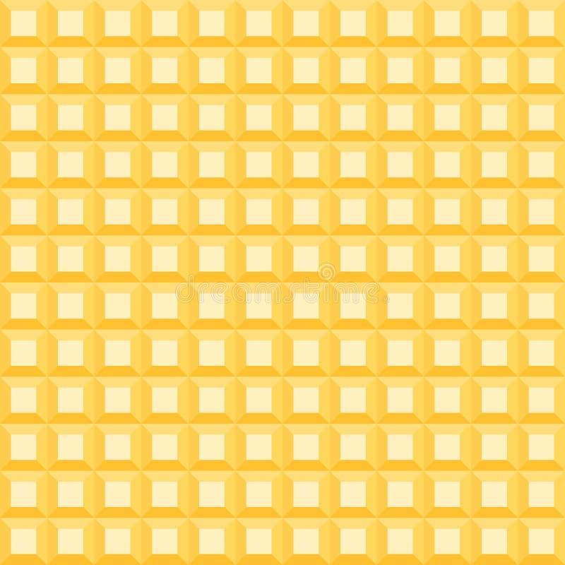 Modell för orange ljus av stora tredimensionella fyrkanter vektor illustrationer