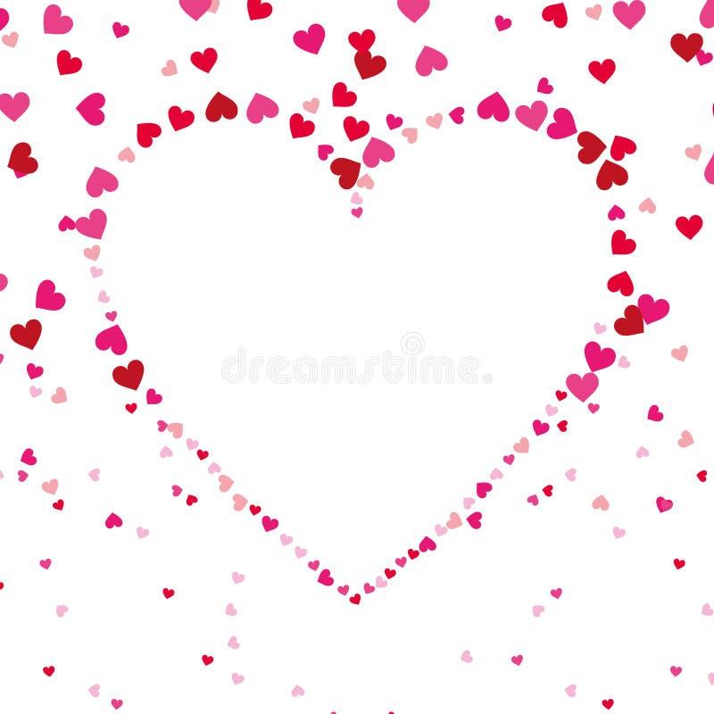 Modell för passion för garnering för förälskelseformhjärta sömlös royaltyfri illustrationer