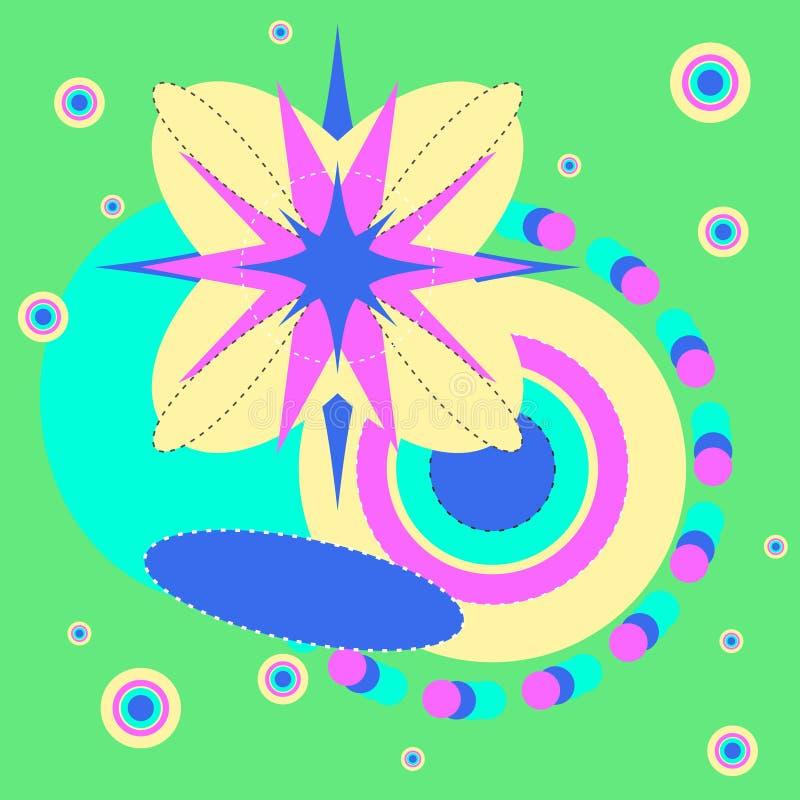 Modell för popkonst, abstrakt sömlös textur vektor illustrationer