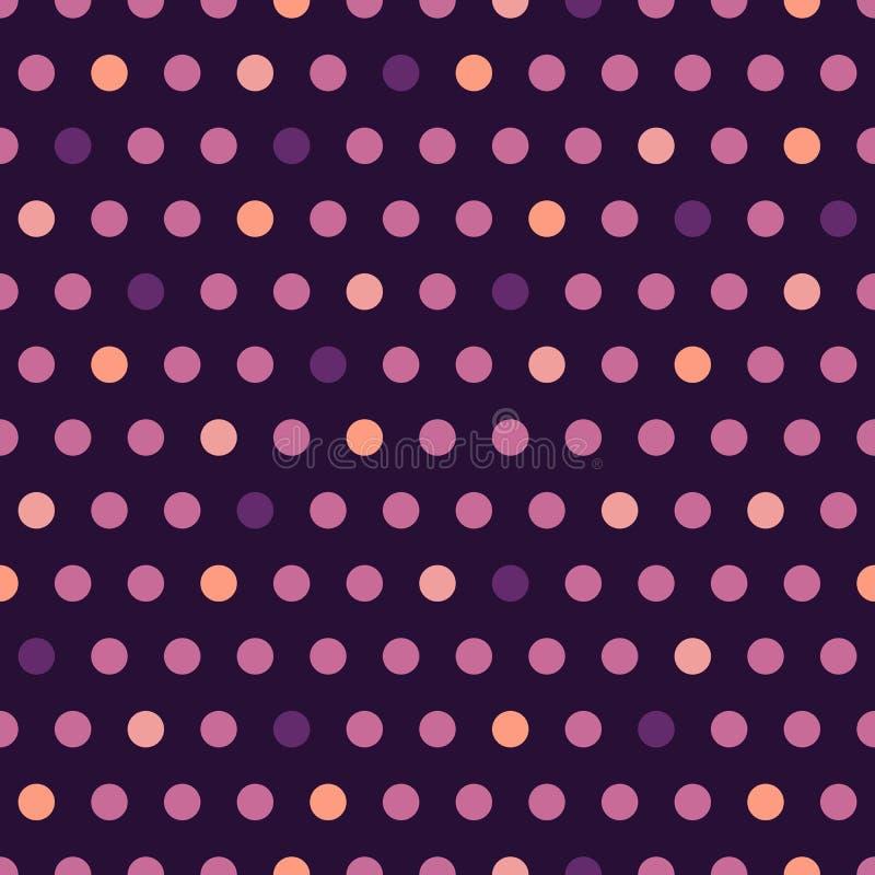 Modell för purpurfärgad prick för vektor sömlös stock illustrationer