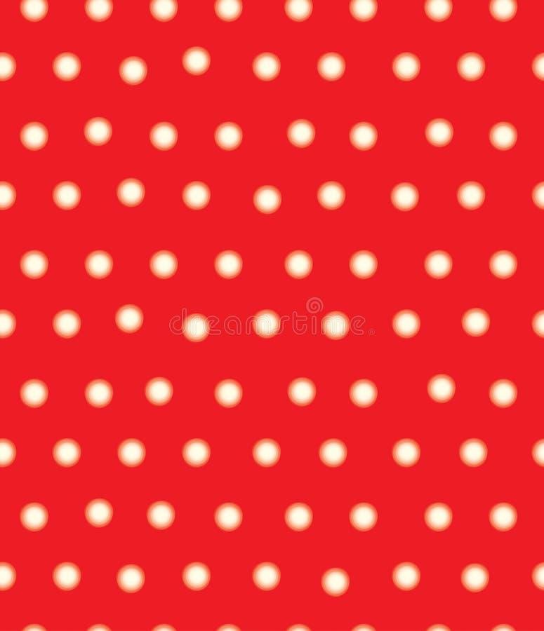 Modell för röda prickar för vektor sömlös royaltyfri illustrationer