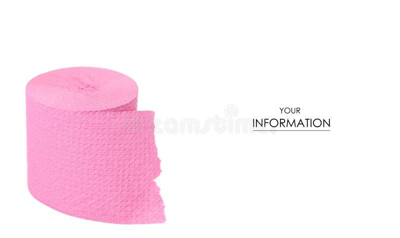 Modell för rosa färger för toalettpapper arkivbilder