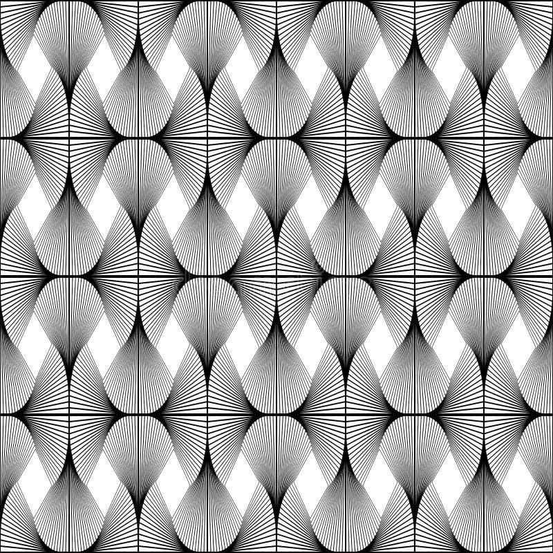 Modell för sömlös diamant för design geometrisk royaltyfri illustrationer