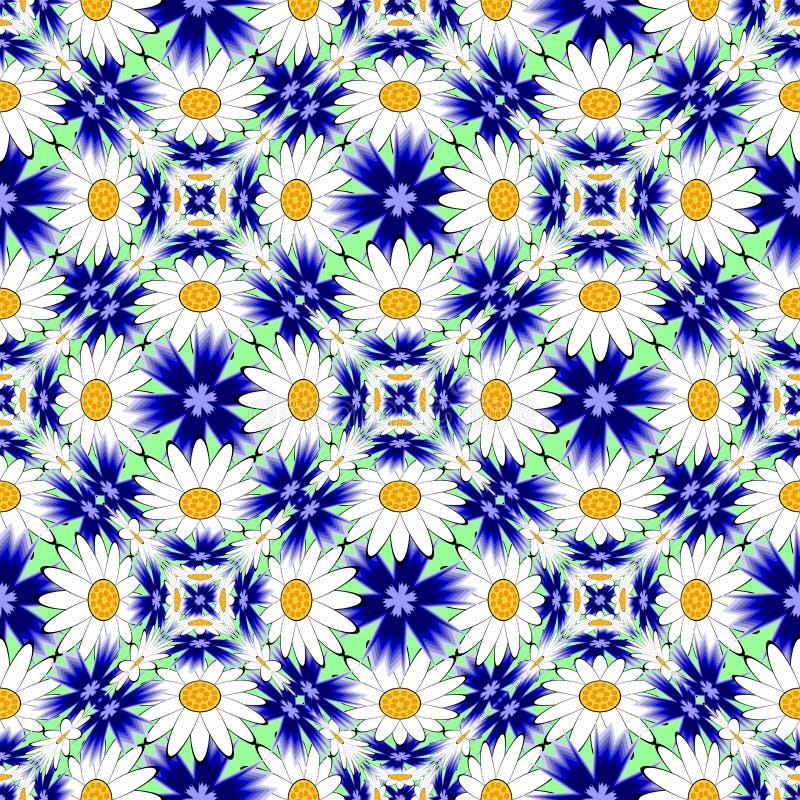 Modell för sömlös färgrik blomma för design dekorativ vektor illustrationer