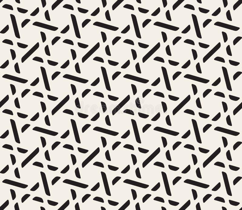 Modell för sömlöst svartvitt galler för vektor geometrisk royaltyfri illustrationer