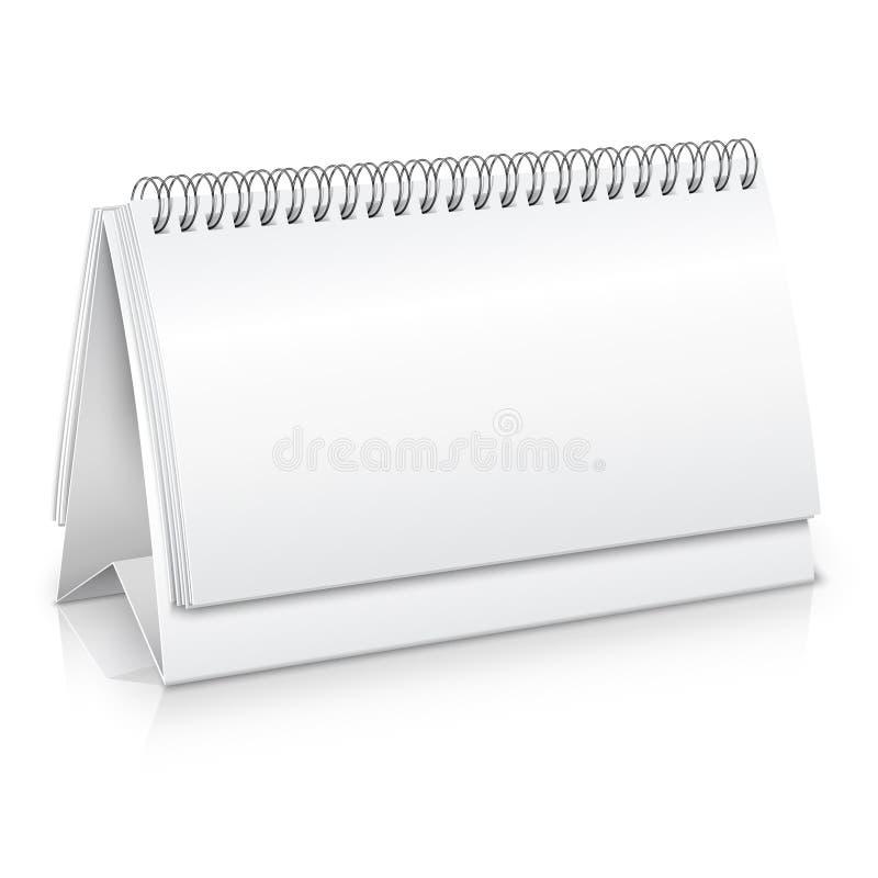 Modell för skrivbordkalender vektor illustrationer