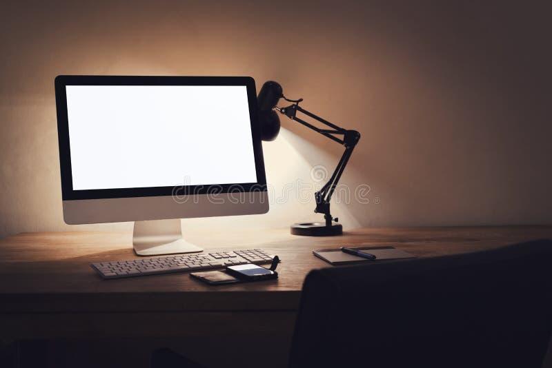 Modell för skrivbords- dator royaltyfri fotografi