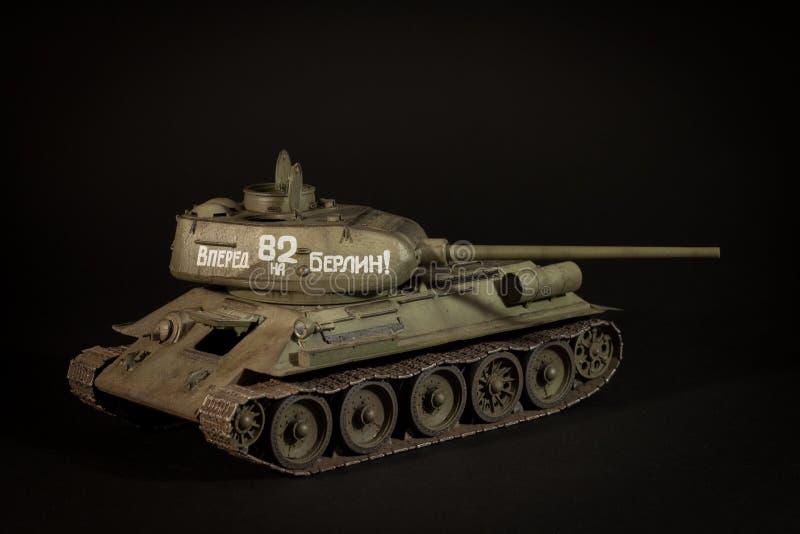 Modell för Sovjetunionen behållare T-34/85 fotografering för bildbyråer