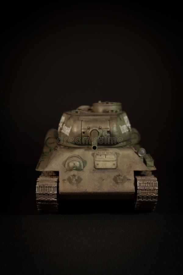 Modell för Sovjetunionen behållare T-34/85 arkivfoto