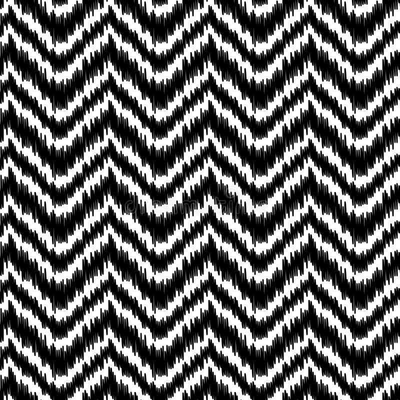 Modell för sparre för etniskt svartvitt ikatabstrakt begrepp geometrisk, vektor vektor illustrationer