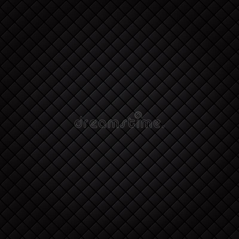 Modell för svart fyrkant Lyxig soffabakgrund och textur royaltyfri illustrationer