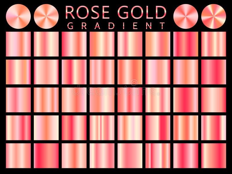 Modell för symbol för vektor för Rose Gold bakgrundstextur sömlös Realistisk, elegant, skinande, metallisk och rosa guld- lutning stock illustrationer