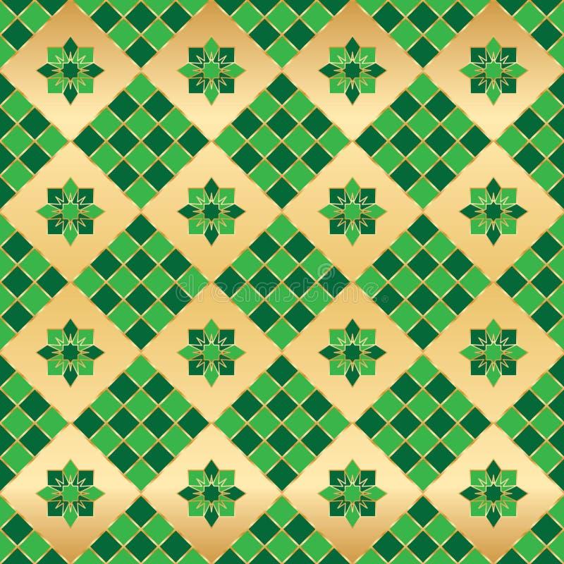 Modell för symmetri för Ramadanformgräsplan sömlös stock illustrationer