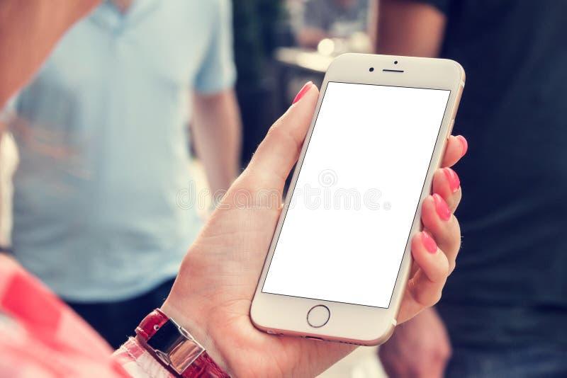 Modell för telefon 6 royaltyfria foton