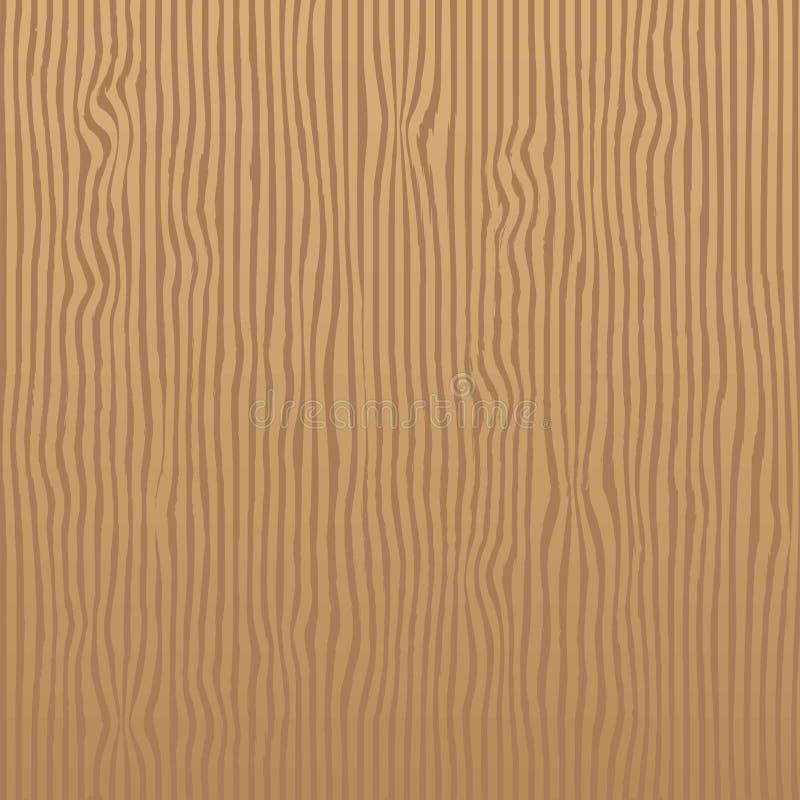 Modell för textur för vertikala band för ek som brun är sömlös för Realisti stock illustrationer