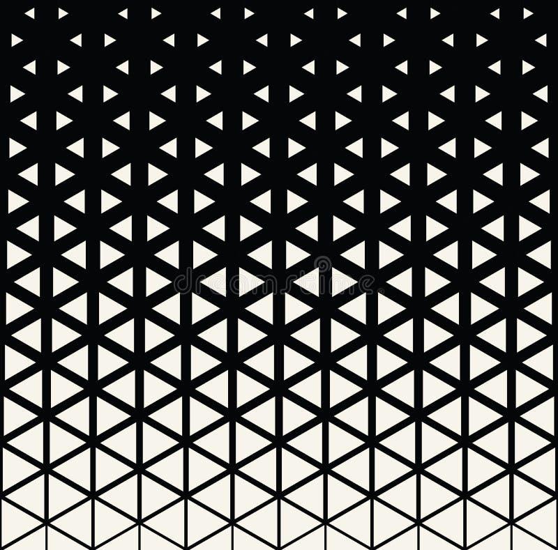 Modell för triangel för abstrakt geometriskt svartvitt decokonsttryck rastrerad royaltyfri illustrationer