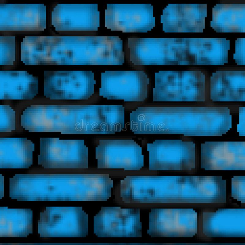 Modell för utdragen kulör tegelplatta för tegelsten för bit för PIXEL 8 fyrkantig vektor illustrationer