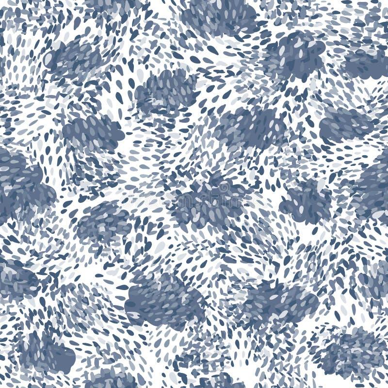 Modell för utdragna kaotiska prickar för hand sömlös Abstrakt begrepp formar bakgrund stock illustrationer