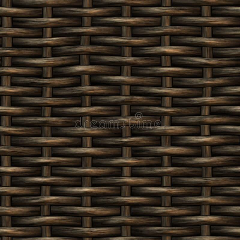 Modell för väv för sömlös korg för raster trä royaltyfri foto