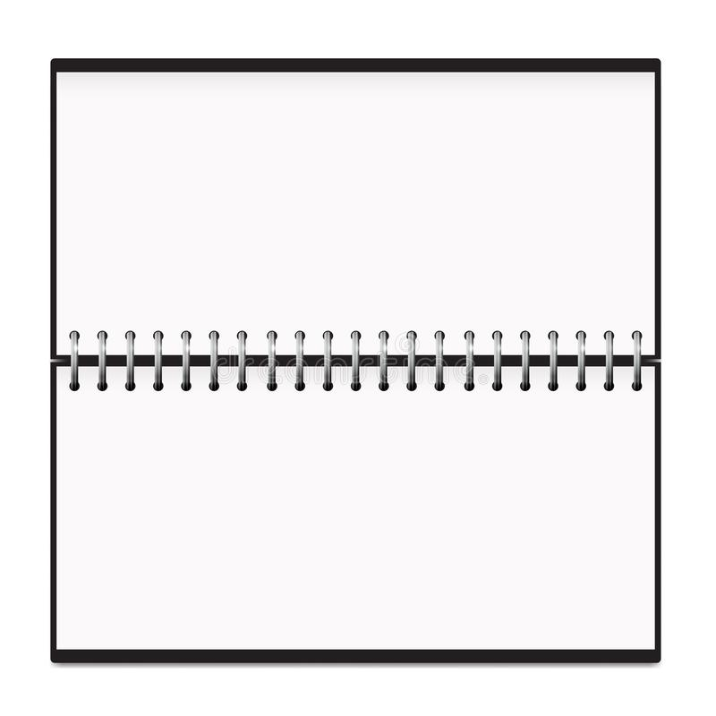 Modell för vår för kalenderhorisontalNotepadmetall royaltyfri illustrationer