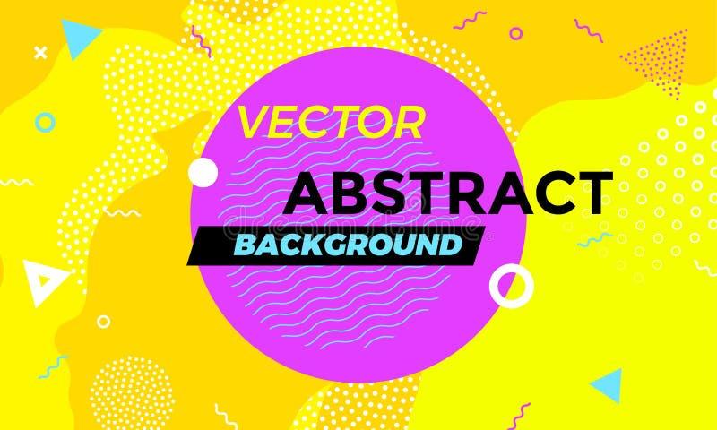 Modell för vektor för abstrakt färgrik för banerbakgrund rolig samkopiering för textur geometrisk royaltyfri illustrationer