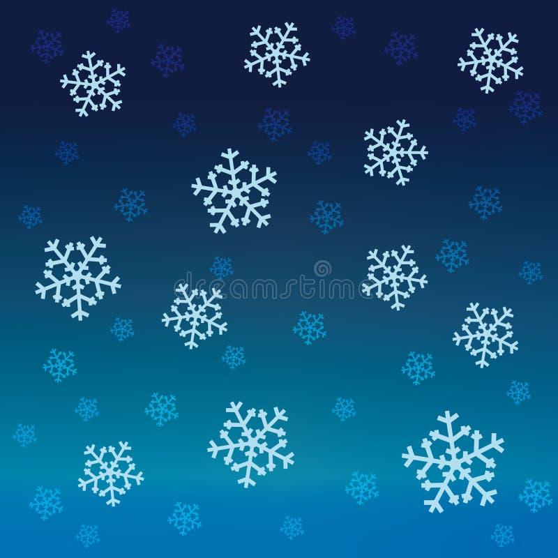 Modell för vektor för blå snow för lutning fallande stock illustrationer